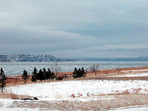 Lake Sakakawea on Fort Berthold Indian Reservation, ND.