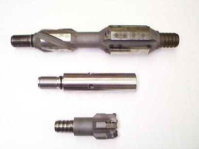 Reamer, flow diverter and bit for CRTMDS tool.