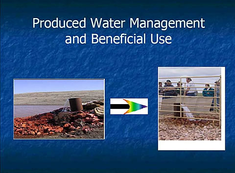 The goal: Managing produced water optimally through beneficial uses.