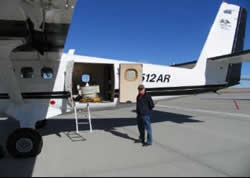 Airborne hyperspectral imagery unit - on plane