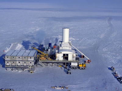 Hot Ice No. 1 well location with Arctic Platform (courtesy Anadarko Petroleum Corp.)