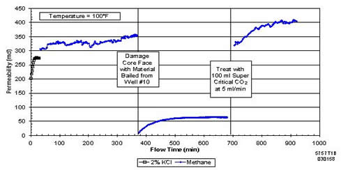 Permeability improvement after carbon dioxide treatment