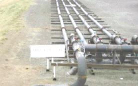 Heat exchangers during testing