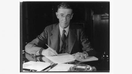 "Vannevar Bush, author of ""Science, the Endless Frontier"""