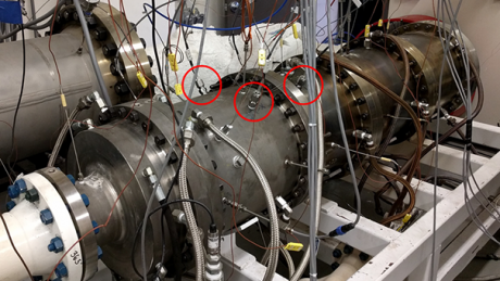 Sporian's ultra-high temperature probes were installed for testing at Southwest Research Institute's Pressurized High-Temperature Flow Facility.