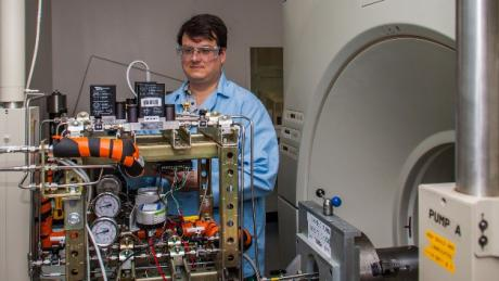 Scientist working on CT Scanning Laboratory