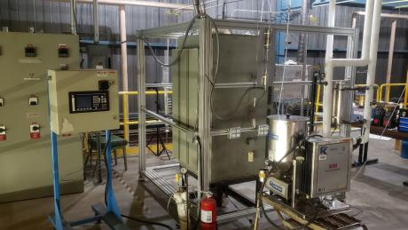 WVU's bench-scale fluidized bed gasifier is providing valuable experimental data that is helping validate computer models at NETL.