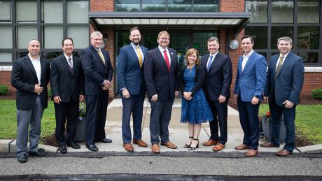 Group photo of Key economic development/energy officials from the State of Pennsylvania visited NETL in Pittsburgh Thursday to learn more about the NETL's research activities, take a tour of key laboratories and discuss areas of mutual interest with NETL leadership