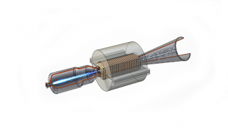 Image of a magnetohydrodynamic (MHD) power generator